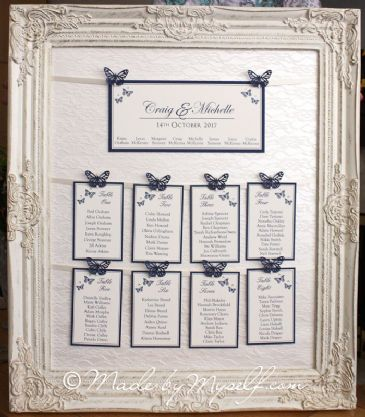 HIRE ONLY - Butterfly Table Plan with hanging table cards